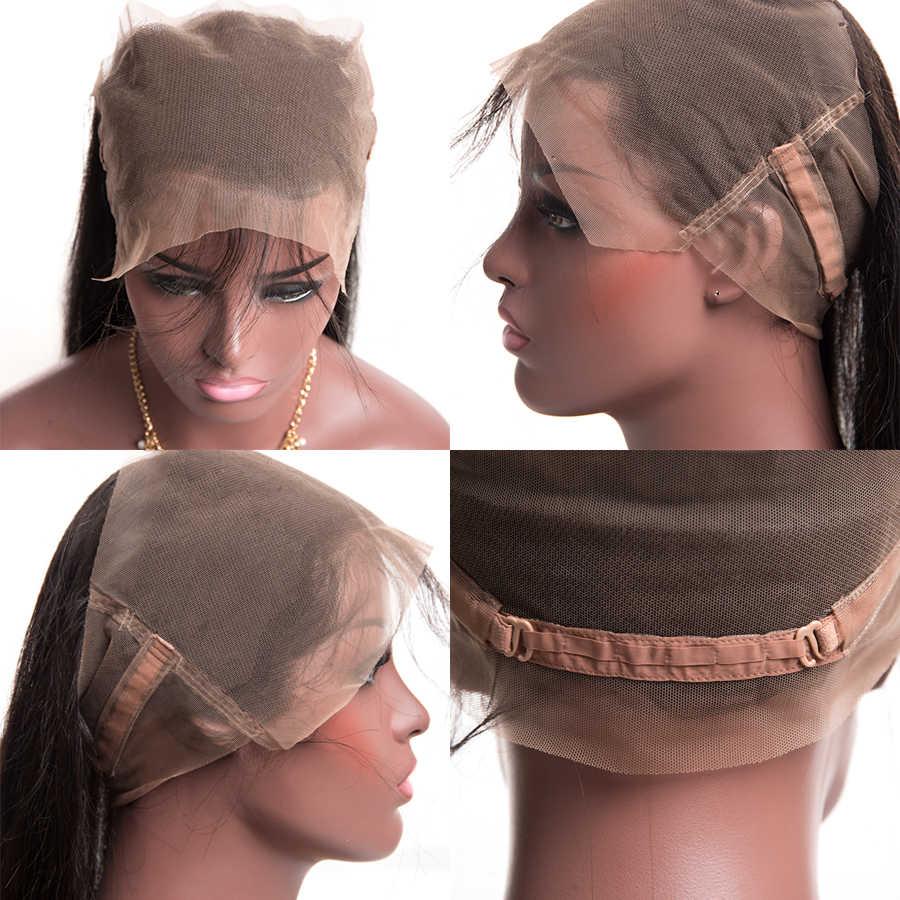 360 кружевное лобовое закрытие бразильские прямые волосы предварительно сорванные 10-24 дюймов Remy человеческие волосы бесплатная средняя часть 360 Кружева Закрытие ALIPOP