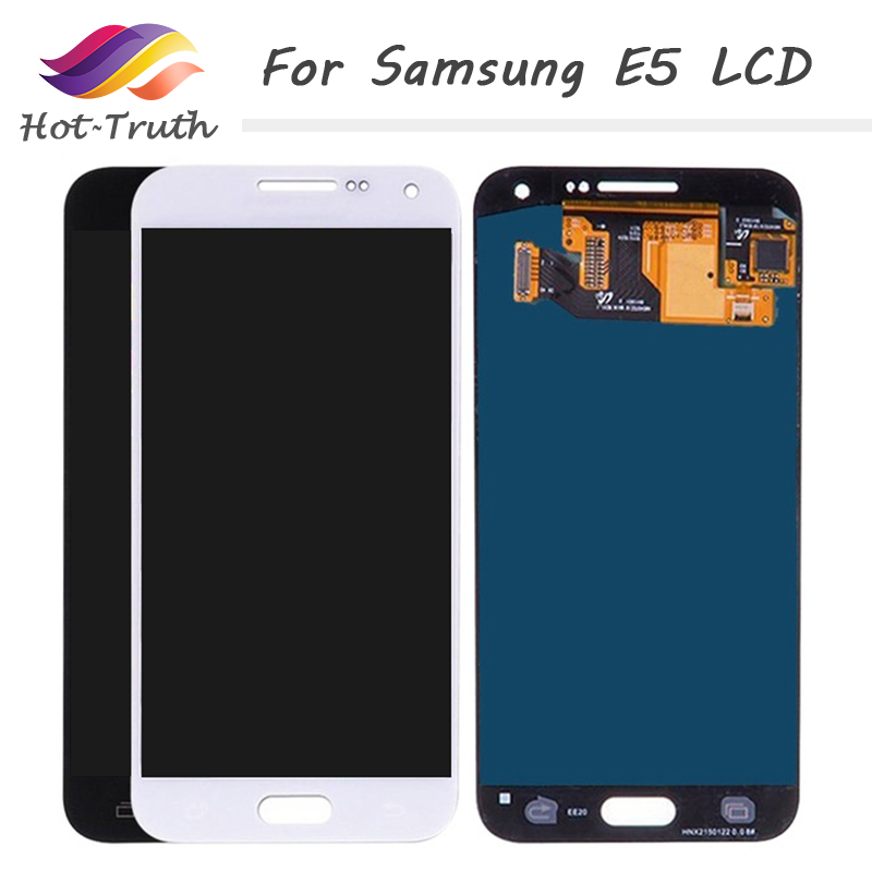 3Pcs Brightness Adjustable LCD For SAMSUNG E5 OEM Display+Touch Screen Digitizer Assembly Replacement E500 E500F E500H E500M
