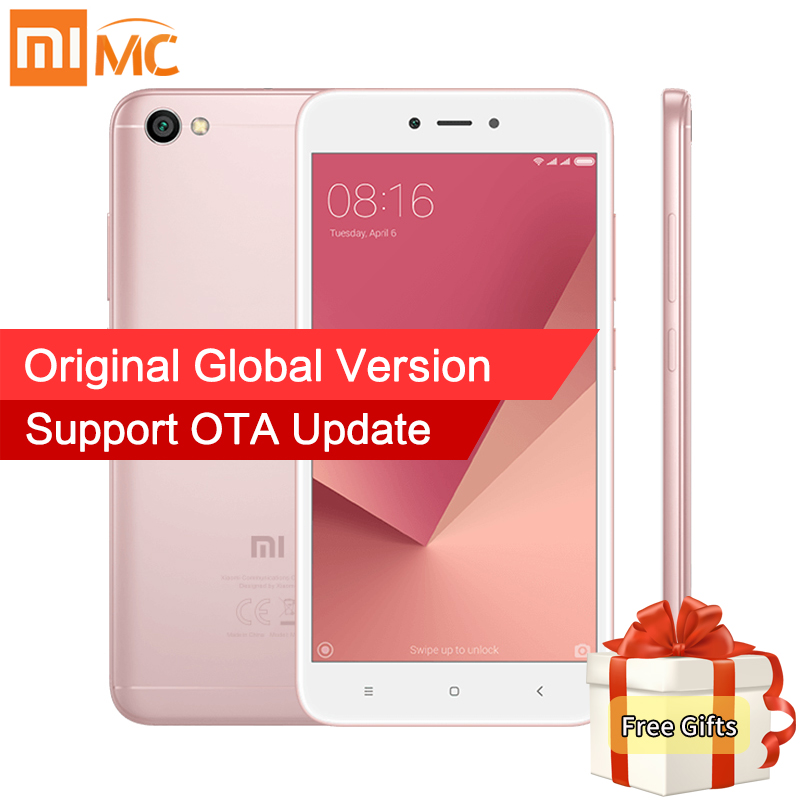 "Global Version Xiaomi Redmi Note 5A Note5A MIUI 9 Mobile Phones 2GB 16GB Snapdragon 425 Quad Core 5.5"" HD Display 2+1 Card Slot"