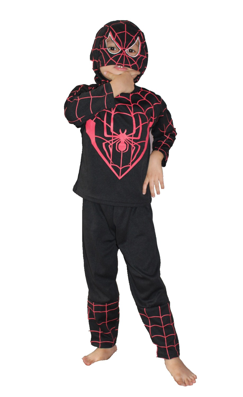 retail:Halloween Party costumes Children model clothing,kid Long sleeve Role-playing  spider-man clothing roll play