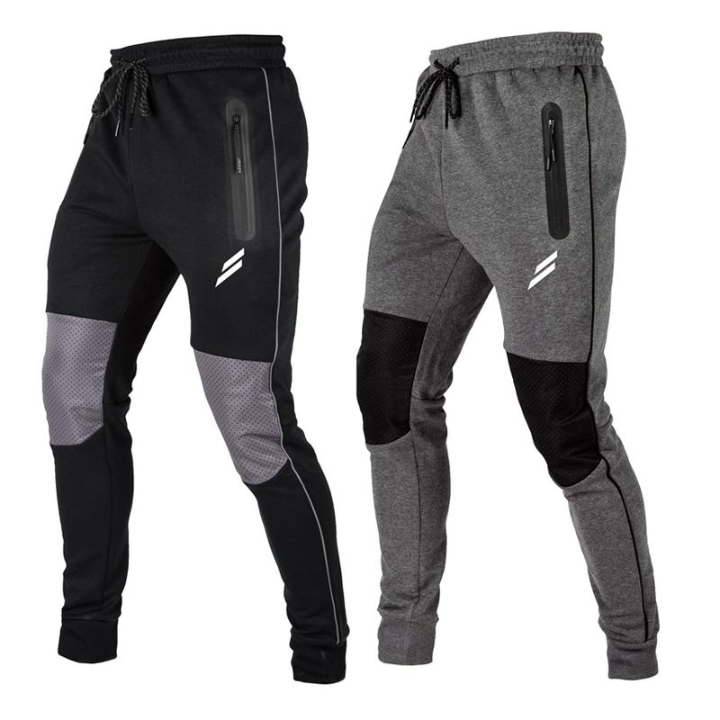Sport Jogging Pants Men Running Fitness Zipper Joggers Training Trousers Exercise Gym Long Pants Outdoor Active Wear Sportswear