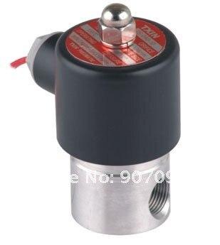 1/4 ''Соленоидный клапан из нержавеющей стали 2S серия 2S025-08 NBR миниатюрный водяной клапан маленький размер 2/2 ходовой клапан