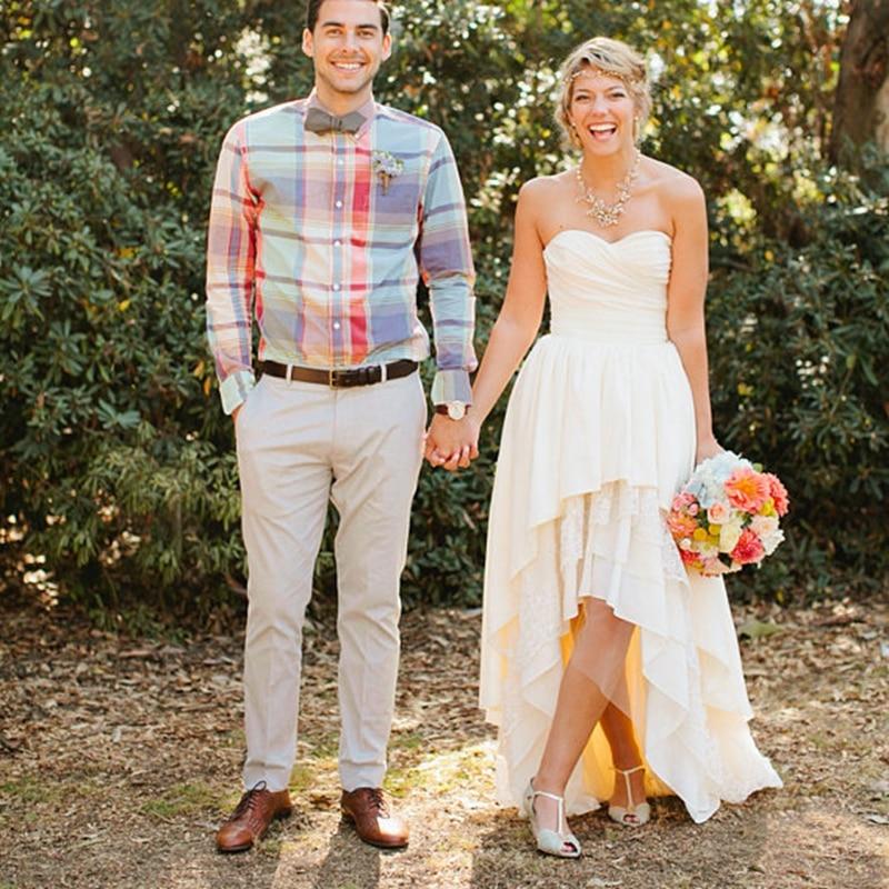 Hi Lo Wedding Gowns: Bohemian Wedding Dresses 2016 Robe De Mariage Sweetheart