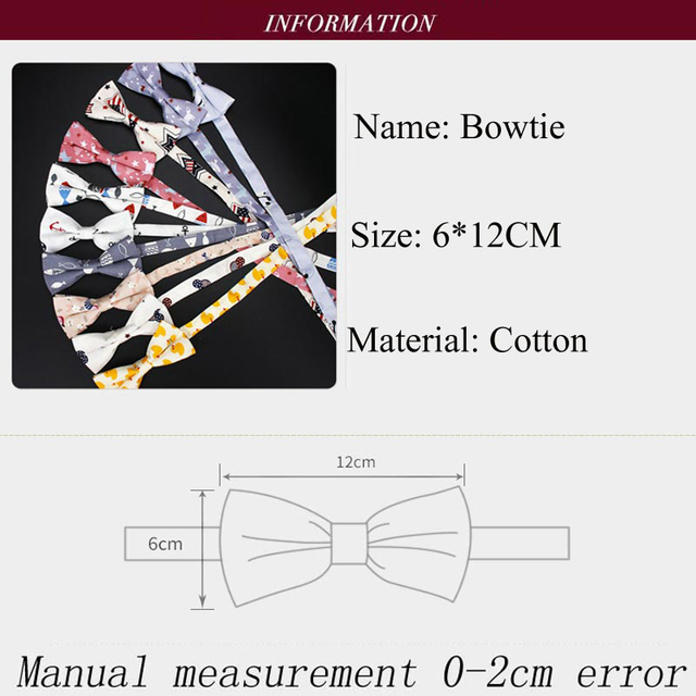 Boy's Printed Cotton Bow Tie 4
