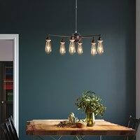Loft estilo retro do vintage lâmpada led pendurado ferro industrial iluminação luminária cafe bar pendurar luzes e27 220 v para decoração|Luzes de pendentes| |  -