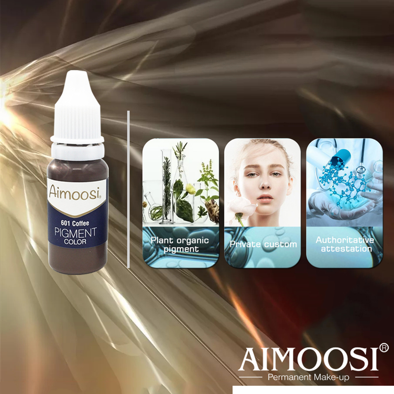 Aimoosi Eyebrow tattoo permanent makeup pigments microblading pure eye pigment ink color 15ml bottle beauty makeup cosmetic in Tattoo Inks from Beauty Health