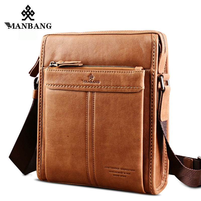 ManBang New Fashion Genuine Leather Man Messenger Bags Cowhide Leather Male Cross Body Bag Casual Men Commercial Briefcase Bag  manbang new fashion genuine leather man messenger bags cowhide leather male cross body bag casual men commercial briefcase bag