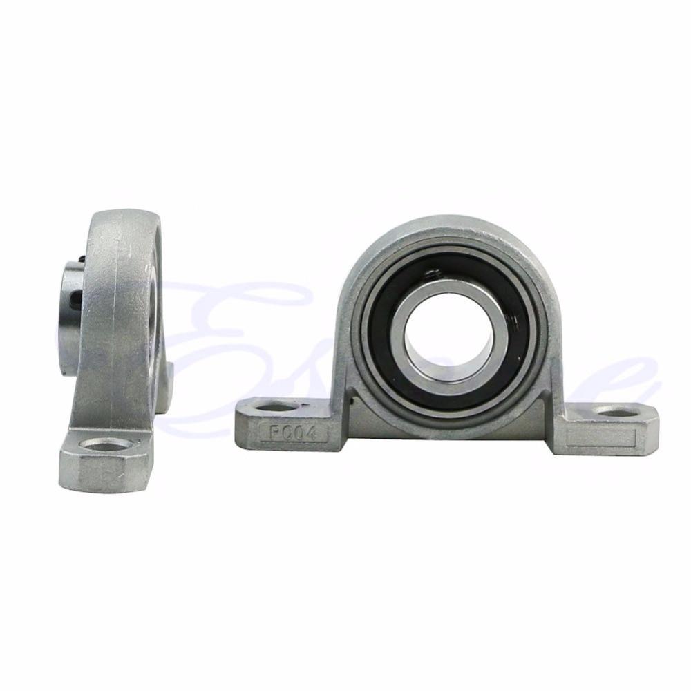2pcs 20mm bore diameter kfl004 pillow block bearing flange rhombic bearings new 2X Zinc Alloy Diameter 20mm Bore Ball Bearing Pillow Block Mounted Support KP004 -W10