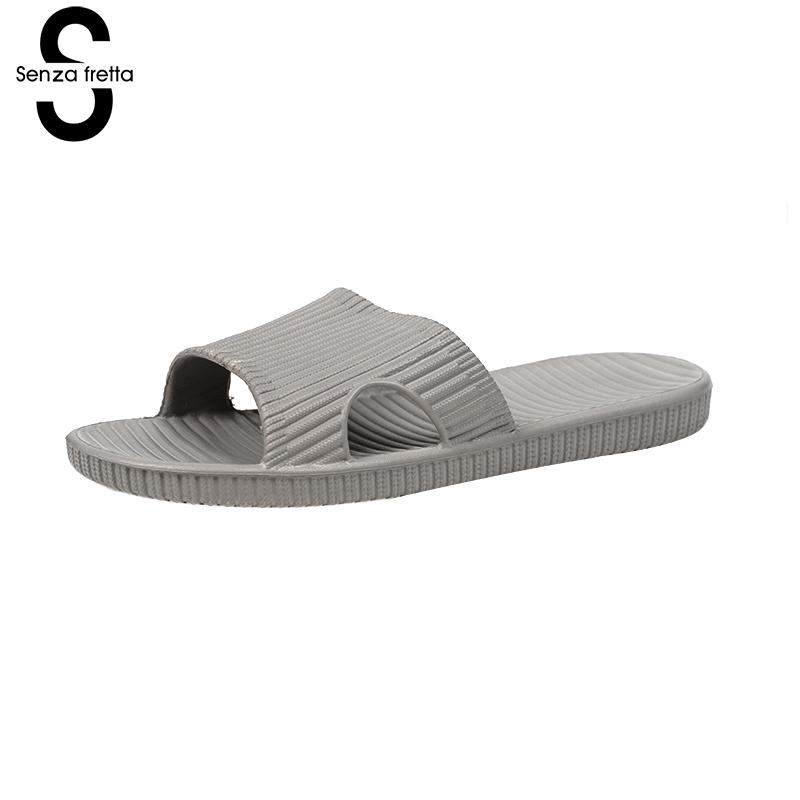 Senza Fretta Men Shoes Summer Home Soft Slippers Indoor Soft Eva Slippers Non-slip Bath Slippers Home Couple Shoes Plus Size senza fretta men shoes home linen slippers couple flat slippers hemp simple breathable soft floor slippers men slippers big size