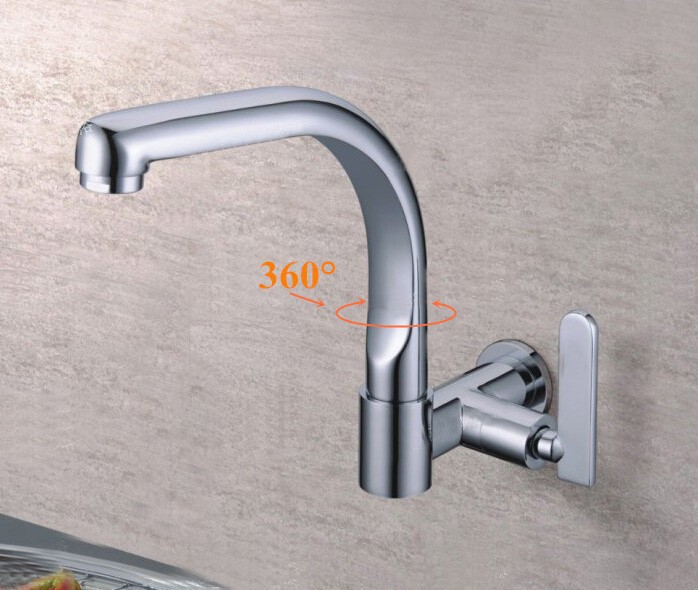 Free shipping 360 Rotating Spout Single Cold water tap Bathroom Basin Kitchen Sink Faucet cold tap