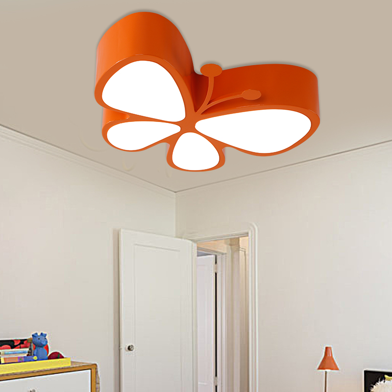 kindergarten child shop LED ceiling lamps butterfly childrens LED eye care cartoon light Children lamp ceiling lights red ZA