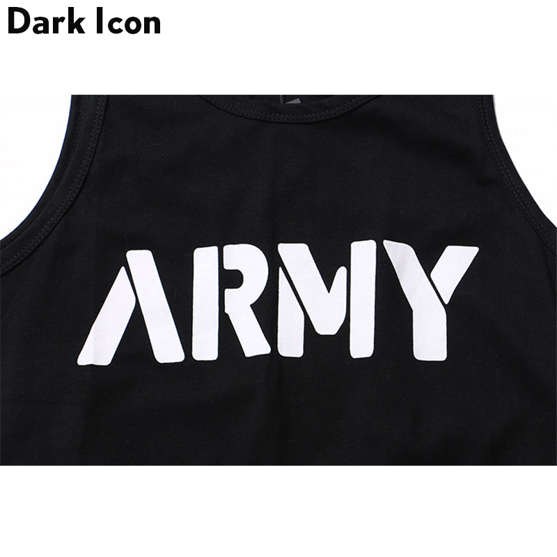 b752629b8def45 DARK ICON Letter Printed Curved Hem Hip Hop Tank Top Men Summer Extended  Long Line Tank Top Black White-in Tank Tops from Men s Clothing on  Aliexpress.com ...