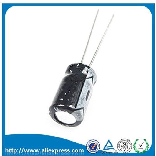 50 шт. 100 мкФ 35 в 35 в 100 мкФ Алюминиевый электролитический конденсатор 35 В/100 мкФ Размер 6*12 мм электролитический конденсатор
