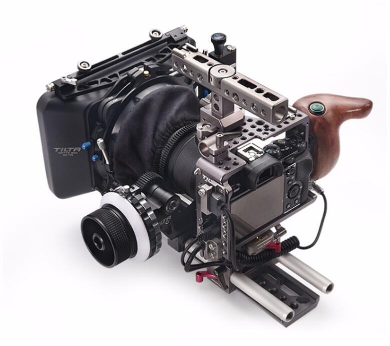 Tilta ES-T17-C A7 A7S A7S2 A7R2 Rig Kit Cage Baseplate Wooden handle Follow focus 4*4 Lightweight Matte box for Sony A7 r o c s детская зубная паста ягодная фантазия r o c s kids 4 7 лет 45г