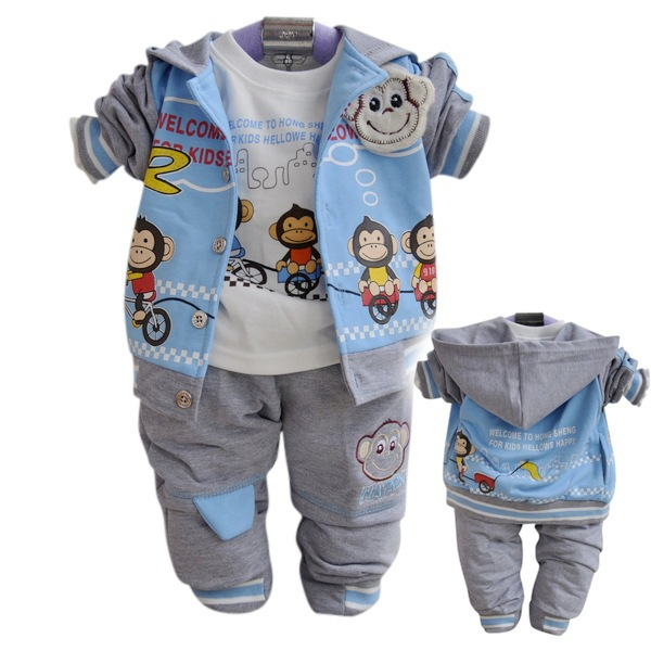 Anlencool Free shipping  Kids' monkey suit boys sport casual wear section Baby Sportswear baby clothing set spring and autumn