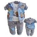Anlencool Frete grátis macaco Crianças meninos terno do esporte casual wear Bebê seção Sportswear conjunto de roupas de bebê primavera e no outono