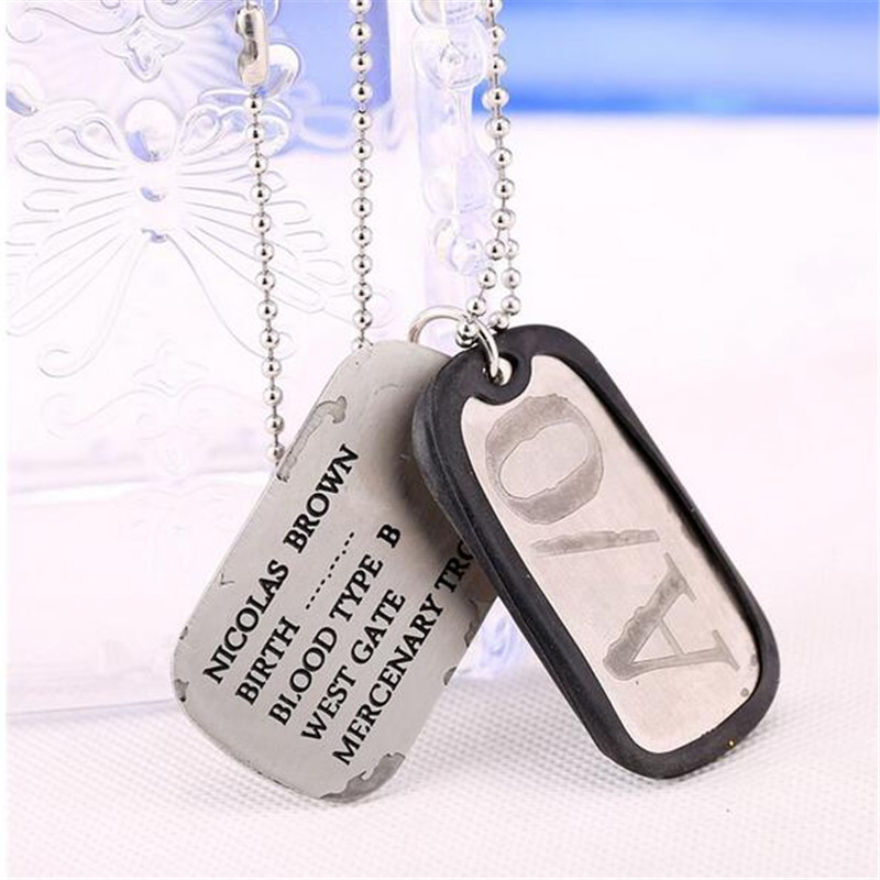 HSIC New 2017 Anime <font><b>Gangsta</b></font> Nicolas Brown A/O Cosplay Necklace Friendship Dog Tag S/O Pendant Necklace For Fans HC10855 image