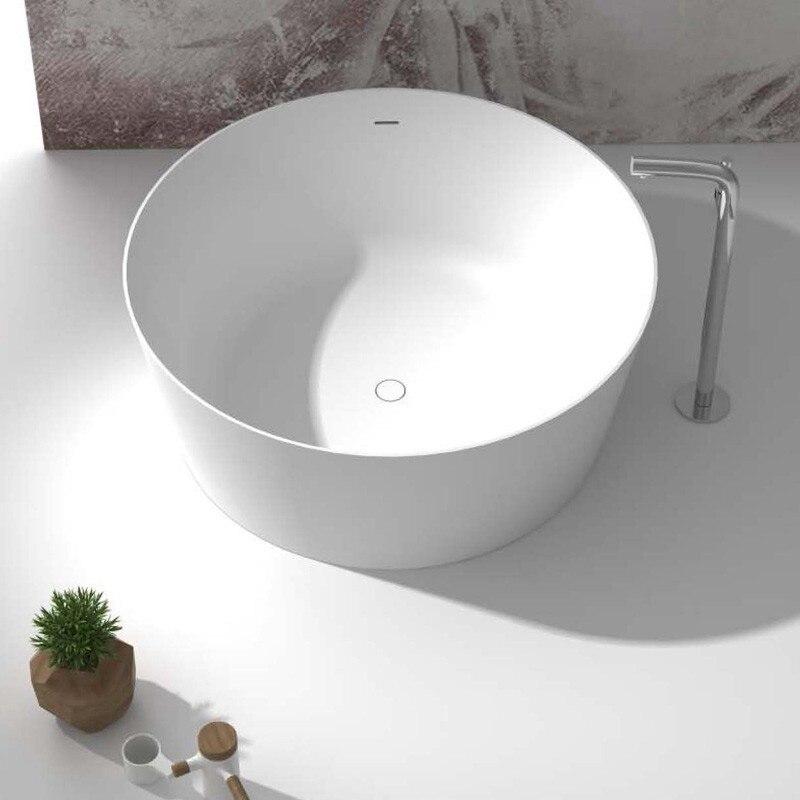 1400 MM VASCA Round Stone Solid Surface Acrylic Bathtub