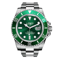 LOREO 9201 Germany watches diver 200M oyster perpetual automatic Mechanical luminous Rotating Bezel Professional fashion watch