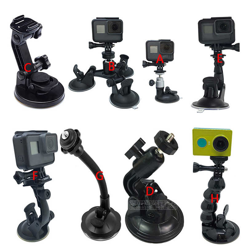 Мини Аксессуары для экшн-камеры автомобильный присоска для Gopro Hero 7 6 5 4 Session XiaoYi 4 K SJCAM eken присоска для стекла крепление