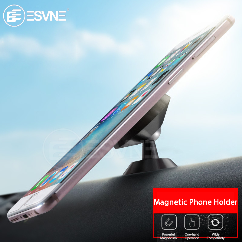 ESVNE Universal Magnetic Phone Holder Desk Stand Car Holder for iPhone