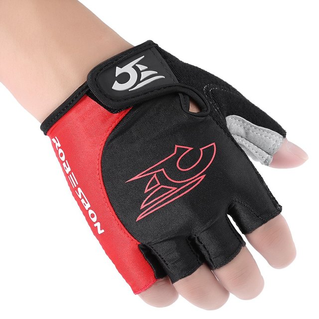 1 Pair Unisex Cycling Gloves Shock-absorbing Skip-proof Foam Pad Bicycle Cycling Gloves Half Finger M-XL Size for Riding