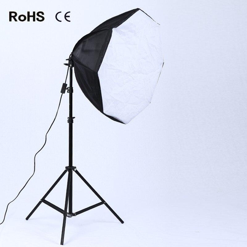 60cm/24in Octagonal Umbrella Diffuser Softbox for Studio Flash Speedlite With 2m light stand