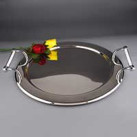 2015 New Design Hot Sale Round Stainless Steel 18 8 Service Tray