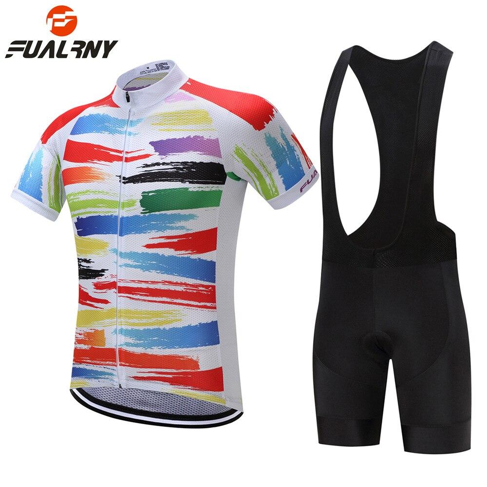 FUALRNY Men Women Cycling Jersey Pro Team 2018 Short Sleeve Cycling Set Cycling Clothing Cycle Bike Bicycle Wear Ropa Ciclismo