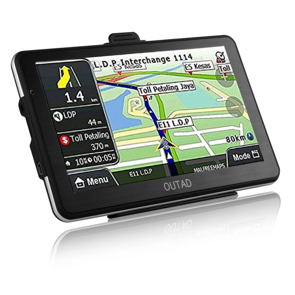 718N 7 inch LCD Capacitive Screen Display US Map GPS Navigation with 8G Memory Card High
