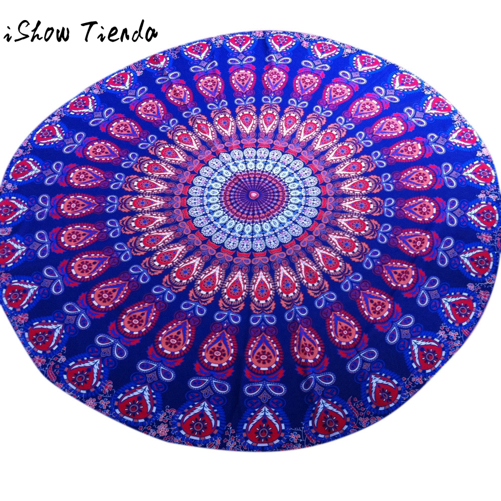 Round Tablecloth Beach Pool Home Shower Towel Blanket Table Cloth Yoga Mat Nappe Rectangulaire