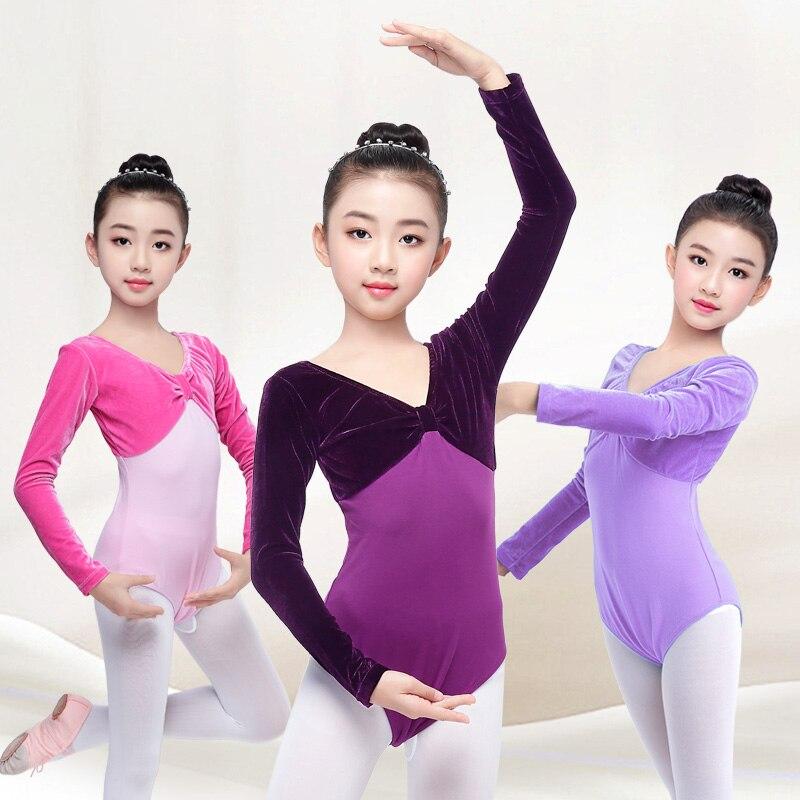 67666517ca9b Detail Feedback Questions about New Arrival Autumn Warm Velvet Cotton  Gymnastics Dance Leotard Girls Toddler Long Sleeve Ballet Leotard on  Aliexpress.com ...