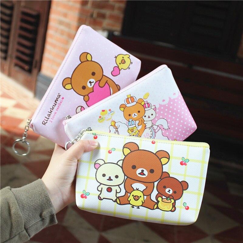 Coin Purses & Holders Ivyye 1pcs Rilakkuma Bear Anime Pu Coin Purse Cartoon Soft Change Bags Coins Pouch Money Wallet Card Key Storage Kids Gift Relieving Rheumatism