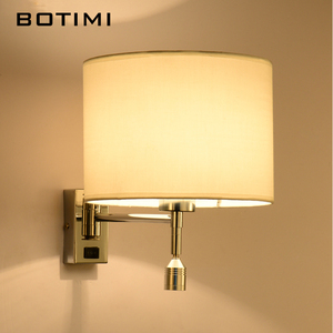 Image 4 - BOTIMI LED 침대 옆 벽 램프 거실에 대 한 Applique Murale Luminaire 벽 Sconce 침실 현대 호텔 프로젝트 조명