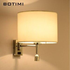 Image 4 - Botimi led lâmpada de parede cabeceira para sala estar applique murale luminária arandela para o quarto moderno projeto do hotel iluminação
