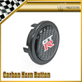 Para Nissan GTR Carbono Pegatina Volante Push Button Cuerno Car-styling