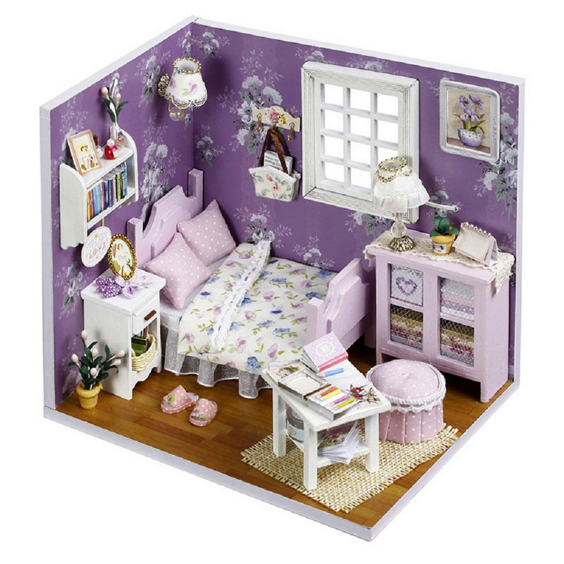 Diy Furniture Room Mini Box Dollhouse Doll House Miniature: A Variety Of Styles 3D DIY Dollhouse Kit Room Box
