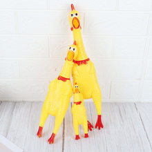 Small And Medium-sized Screaming Chicken Linoleum Screaming Chicken Tremble Vent squeeze Toy Whole Person Pet children Toy for(China)