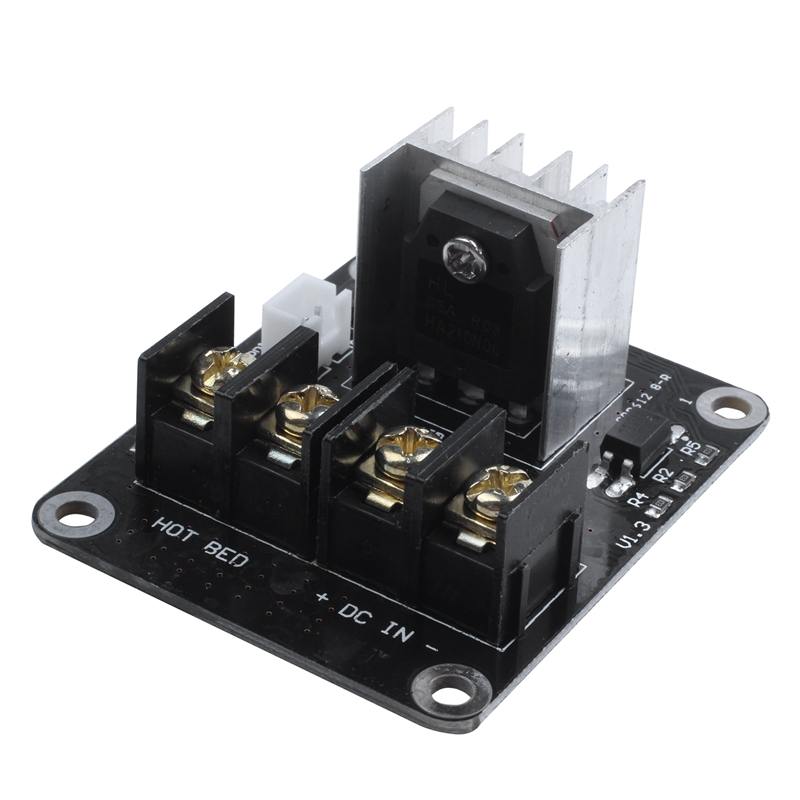 3D Printer hotbed MOSFET expansion module inc 2pin lead Anet A8 A6 A2 Compatible Black