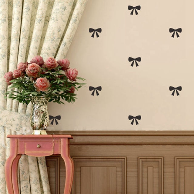 Lovely Little Bow Wall Sticker Home Decor Bedroom Tie Pattern Vinyl Decals For S Room