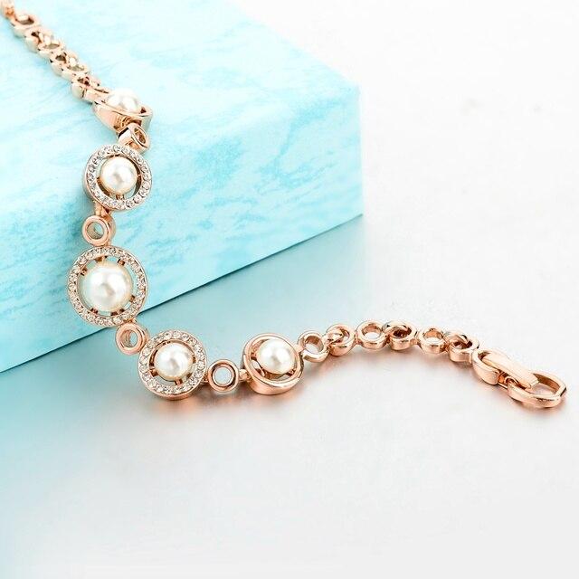 Купить женские браслеты toucheart золотистые с искусственным жемчугом картинки