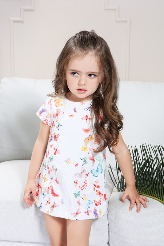 Toddlers Summer Dress For Girl 1 2 3 4 5 Years Old Baby -5426