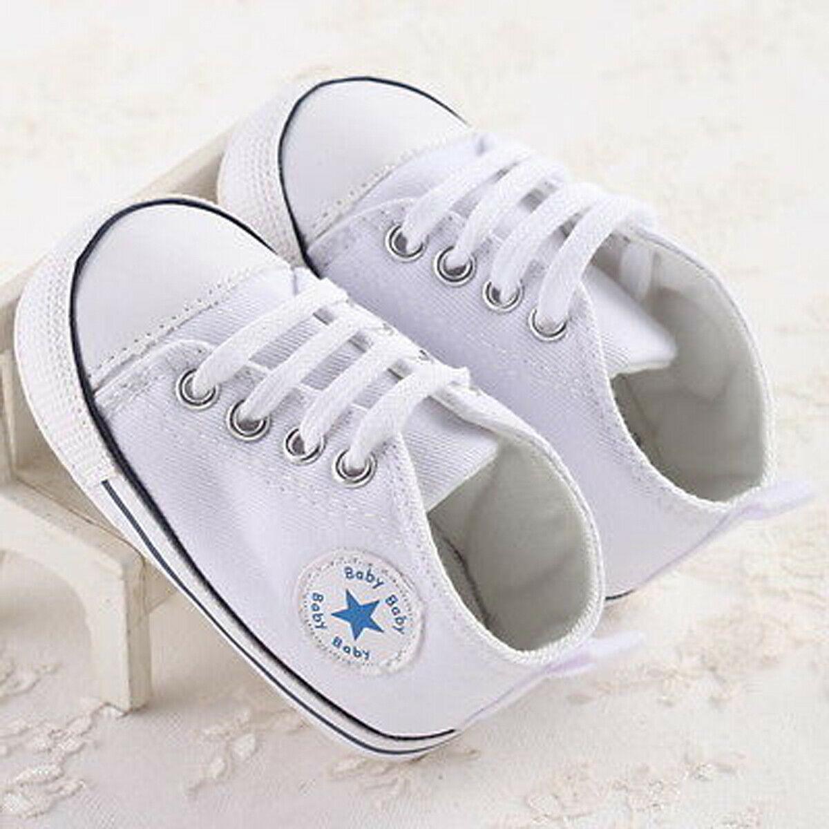 Newborn Baby Boy Soft Sole Crib Non Slip Walking Shoes