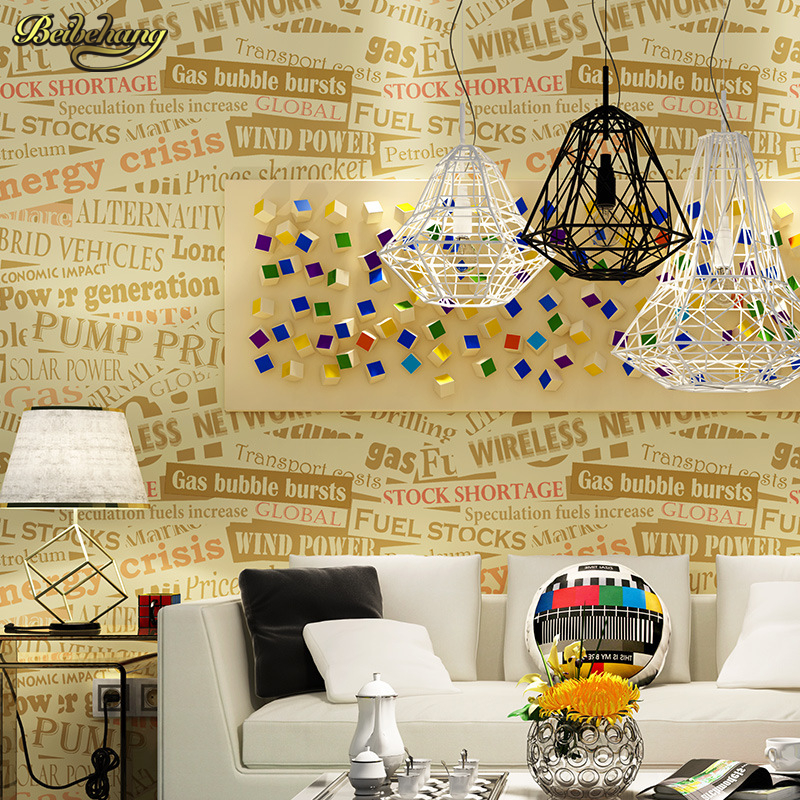 beibehang papel de parede Continental alphabet green pure paper wall paper bedroom living room sofa bar backdrop wallpaper beibehang papel de parede 3d dimensional relief korean garden flower bedroom wallpaper shop for living room backdrop wall paper