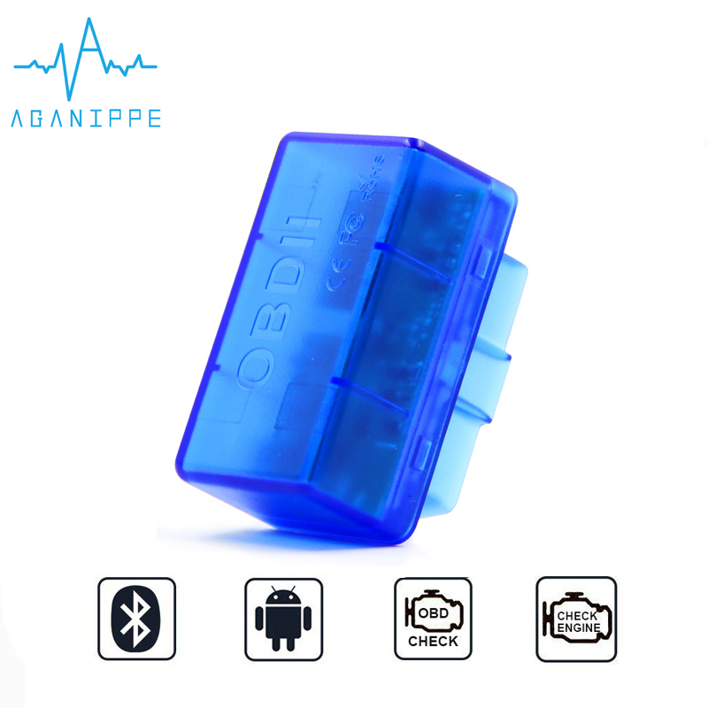 Aganippe V1.5 Ulme 327 OBD2 Bluetooth Diagnose Auto Werkzeuge Eml327 V1.5 OBD Scanner ulme 327 Auto Diagnose-Scanner Für Android