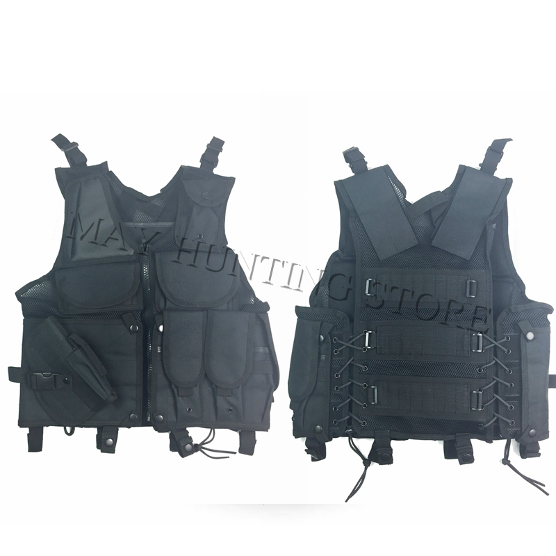 New Hunting Vest Tactical Outdoor Military Army Polyester Airsoft War Game Vest with magazine pouch for Camping Hiking set