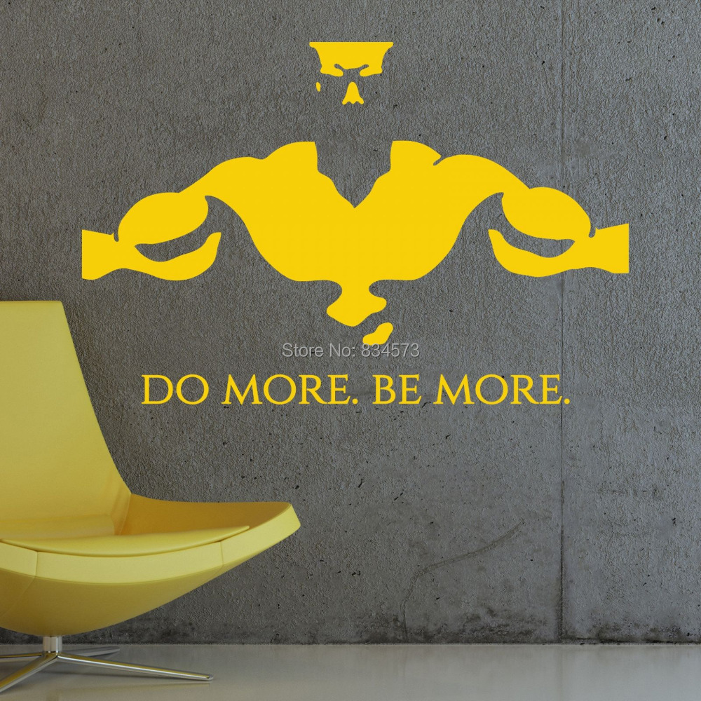 Removable wall art graphic - Gym Do More Be More Fitness Wall Art Sticker Decal Diy Home Decoration Decor Wall Mural