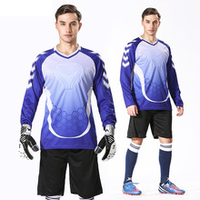 Custom Professional Men Goalkeeper Jerseys Soccer Football Survetement Training Uniform Set Doorkeepers Thicken Sponge