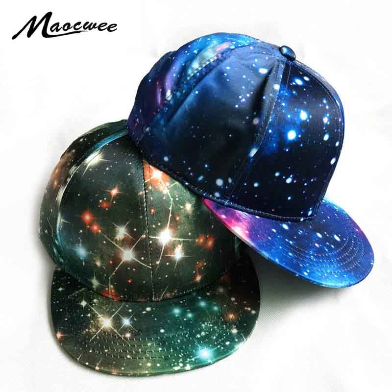 2018 Snapback Hat Blue Space Gorras Hip Hop Women Men Hats Fashion Baseball Hat Cap Space bone masculino Dad Caps Wholesale Bone flat baseball cap fitted snapback hats for women summer mesh hip hop caps men brand quick dry dad hat bone trucker gorras