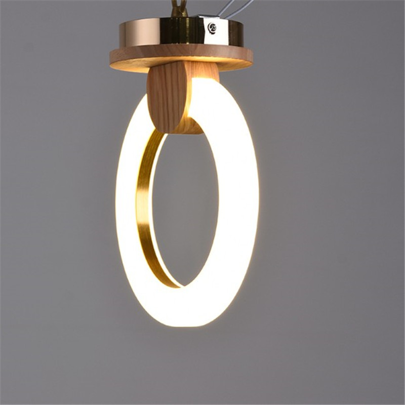 Modern wood lamp round ring led ceiling light nordic creative aisle balcony restaurant bedroom wall sconces warm white light nordic retro white metal aisle lamp modern creative wood wall sconces lighting fixture bedroom living room wall light wl248
